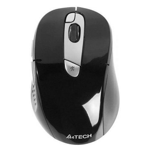 лучшая цена Мышь A4 G11-570FX-1, оптическая, беспроводная, USB, черный и серебристый