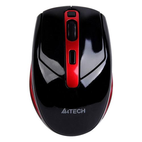 Мышь A4 G11-590FX-2, оптическая, беспроводная, USB, черный и красный мышь a4 bloody p91 pro черный 16000dpi usb2 0 8but