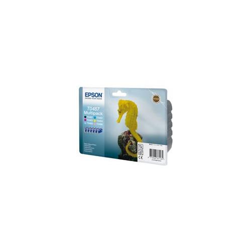 Картридж EPSON T0487, 6 цветов [c13t04874010] epson t0487 multipack c13t04874010 картридж для stylus photo r200 r300
