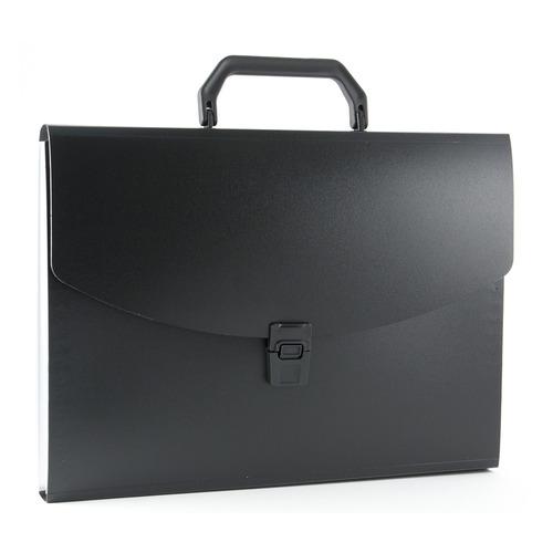 Портфель Бюрократ -BPP6BLCK 6 отдел. A4 пластик 0.7мм черный 16 шт./кор.