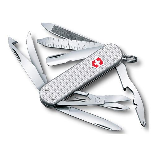 Складной нож VICTORINOX MiniChamp Alox, 14 функций, 58мм, серебристый