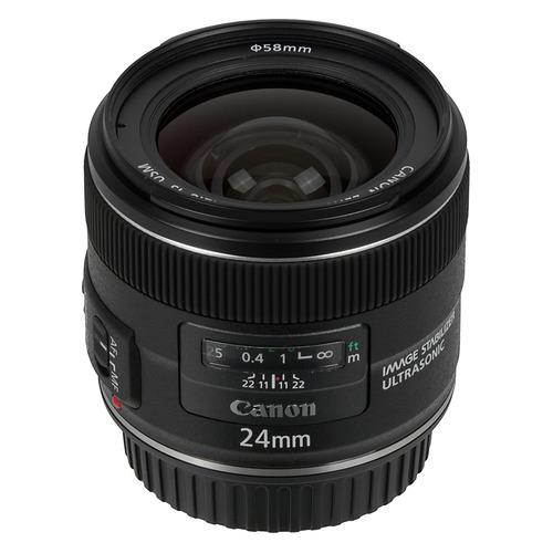 лучшая цена Объектив CANON 24mm f/2.8 EF IS USM, Canon EF, черный [5345b005]
