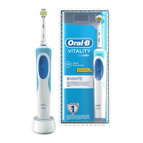 Электрическая зубная щетка ORAL-B 3D White, цвет: белый