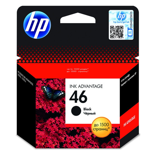 Картридж HP 46 черный [cz637ae] картридж hp cz637ae 46 для deskjet ink advantage 2020hc printer 2520hc aio черный