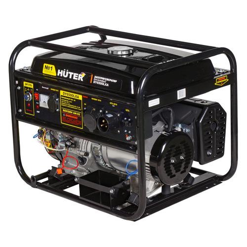Бензиновый генератор HUTER DY6500LXA, 220 В, 5.5кВт [64/1/27] электрогенератор huter dy6500lxa с авр