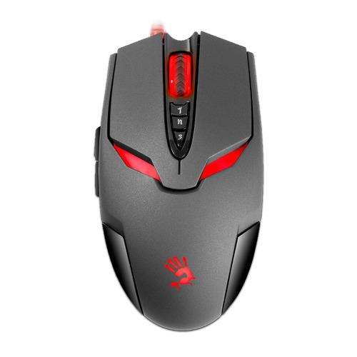 Мышь A4 Bloody V4M, игровая, оптическая, проводная, USB, черный мышь a4 bloody v3 игровая оптическая проводная usb черный