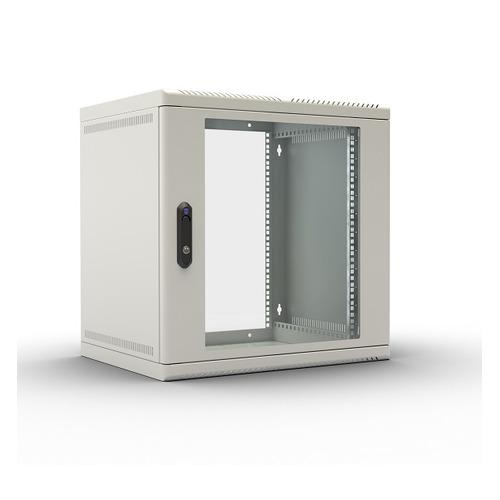 лучшая цена Шкаф коммутационный ЦМО (ШРН-9.300) 9U 600x300мм пер.дв.стекл несъемн.бок.пан. 50кг серый