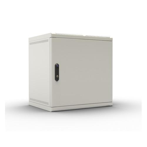 лучшая цена Шкаф коммутационный ЦМО (ШРН-9.480.1) 9U 600x480мм пер.дв.металл несъемн.бок.пан. 50кг серый