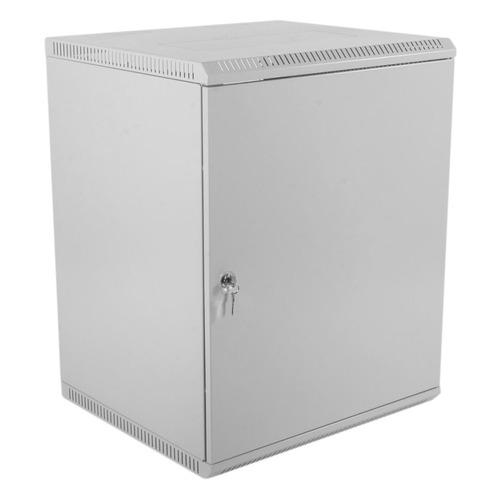 Шкаф коммутационный ЦМО (ШРН-Э-12.500.1) 12U 600x520мм пер.дв.стал.лист несъемн.бок.пан. серый