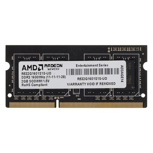 цена Модуль памяти AMD R532G1601S1S-UO DDR3 - 2ГБ 1600, SO-DIMM, OEM онлайн в 2017 году