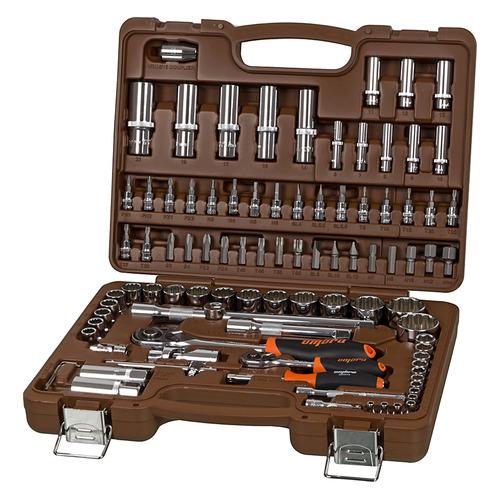Набор инструментов OMBRA OMT94S12, 94 предмета [55378] ключ трещотка 3 8 72 зуба comfort с быстрым сбросом crv 2 х комп рукоятка gross
