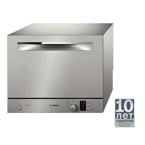 цена на Посудомоечная машина BOSCH SKS 62E88RU, компактная, серебристая [sks62e88ru]