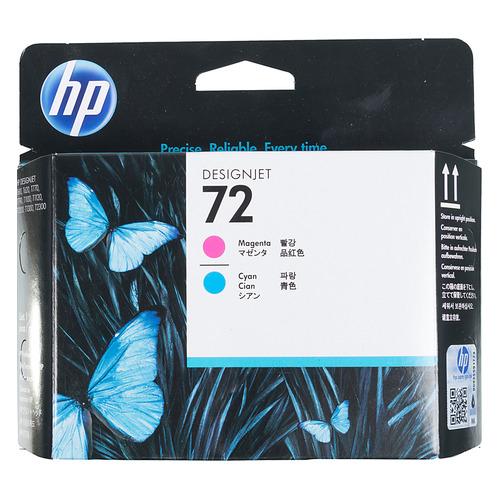 Печатающая головка HP 72 C9383A пурпурный/голубой для HP DJ T1100/T610 картридж hp 72 c9384a для hp dj t1100 t610 черный матовый желтый