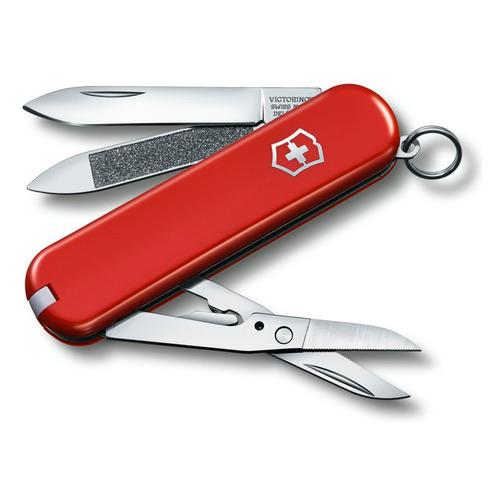 цена на Складной нож VICTORINOX Executive 81, 7 функций, 65мм, красный