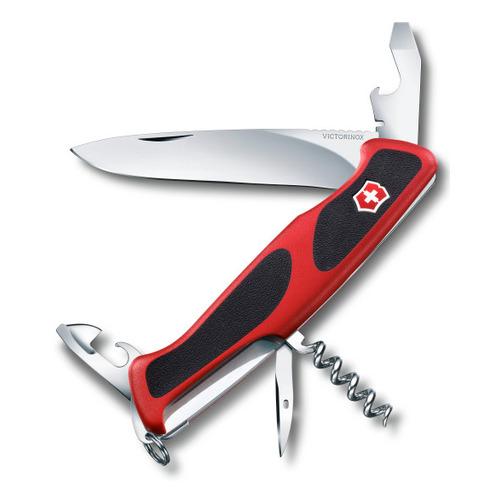Складной нож VICTORINOX RangerGrip 68, 11 функций, 130мм, красный / черный нож перочинный victorinox rangergrip 61 0 9553 mc4 130мм 11 функций чёрно зеленый