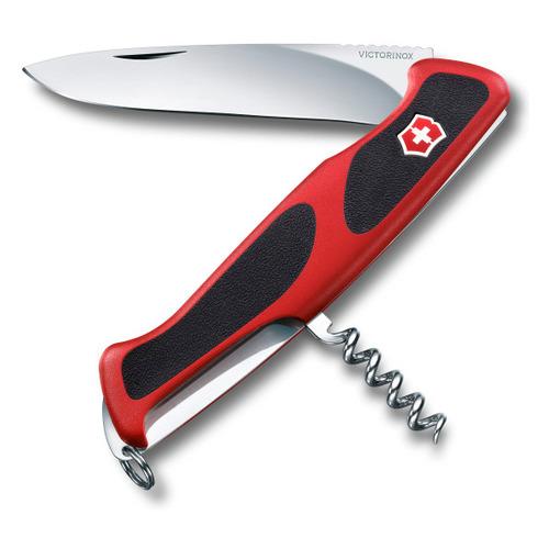 Складной нож VICTORINOX RangerGrip 52, 5 функций, 130мм, красный / черный нож перочинный victorinox rangergrip 61 0 9553 mc4 130мм 11 функций чёрно зеленый
