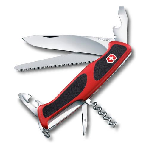 Складной нож VICTORINOX RangerGrip 55, 12 функций, 130мм, красный / черный нож перочинный victorinox rangergrip 61 0 9553 mc4 130мм 11 функций чёрно зеленый