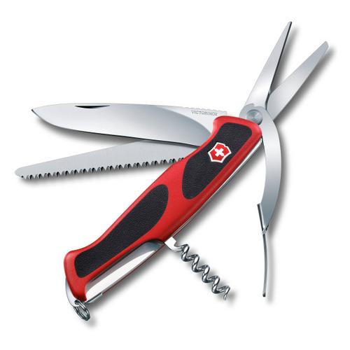 Складной нож VICTORINOX RangerGrip 71 Gardener, 7 функций, 130мм, красный / черный