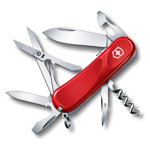 Складной нож VICTORINOX Evolution S14, 14 функций, 85мм, красный нож перочинный victorinox victorinox evolution s14 красный 85мм