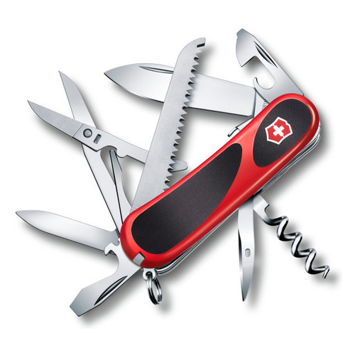 Складной нож VICTORINOX EvoGrip S17, 15 функций, 85мм, красный / черный