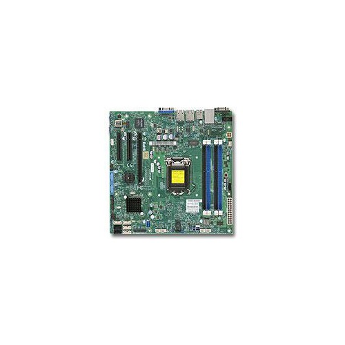 Серверная материнская плата SUPERMICRO MBD-X10SLM-F-O, Ret материнская плата supermicro mbd x10slm f o soc 1150 ic224