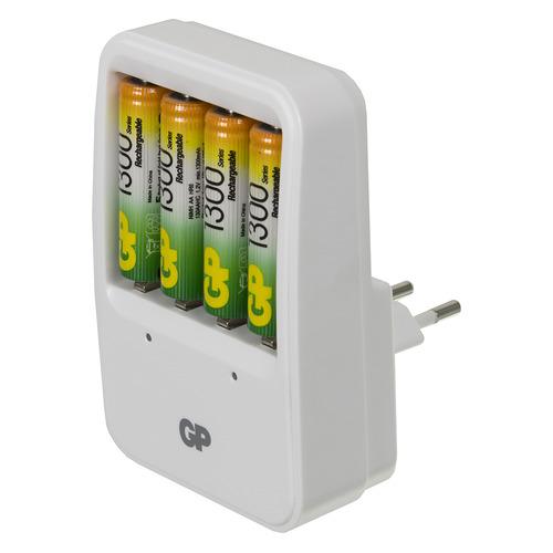 цена на AA Аккумулятор + зарядное устройство GP PowerBank PB420GS130, 4 шт. 1300мAч