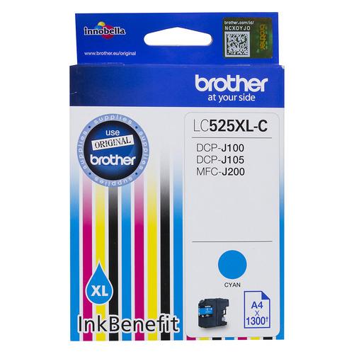 Картридж Brother LC525XLC, голубой / LC525XLC картридж superfine sf lc525xlc картридж brother lc525xlc dcp j100 j105 j200 cyan superfine