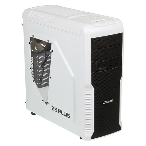 Корпус ATX ZALMAN Z3 PLUS, Midi-Tower, без БП, белый бп atx 1200 вт zalman zm1200 ebt
