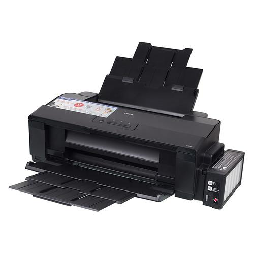 Принтер струйный Epson L1800 цветной, цвет: черный [c11cd82402]