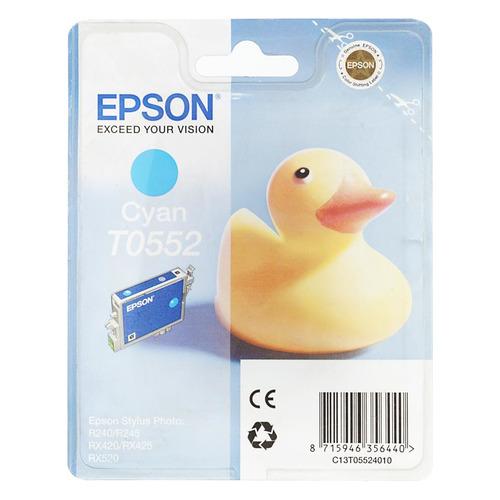 Картридж EPSON T0552, голубой [c13t05524010] картридж epson original t055240 голубой для мфу epson stylus rx520 stylus photo r240