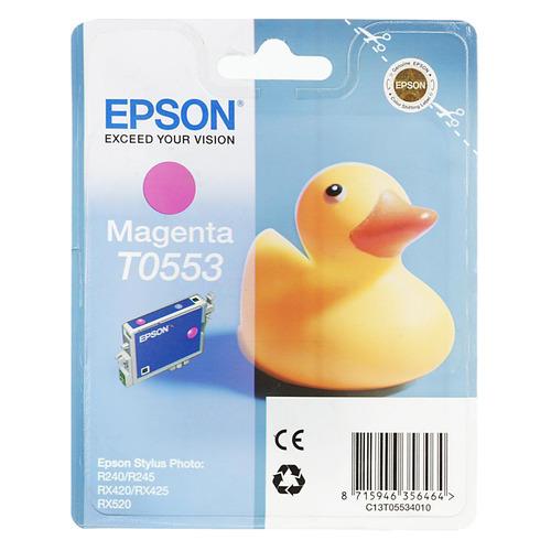 Картридж EPSON T0553, пурпурный [c13t05534010] картридж cactus cs ept0553 для epson stylus rx520 r240 пурпурный 300стр