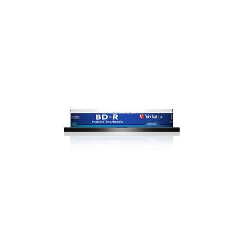 Оптический диск BD-R VERBATIM 25Гб 6x, 10шт., 43804, cake box, printable стоимость