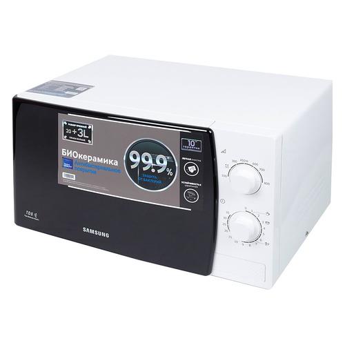 Фото - Микроволновая печь SAMSUNG ME81KRW-1/BW, 800Вт, 23л, белый микроволновая печь samsung ge 83krw 1 bw