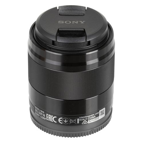 лучшая цена Объектив SONY 50mm f/1.8 SEL, Sony E, черный [sel50f18b.ae]