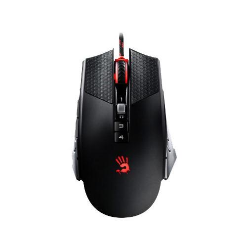 Мышь A4 Bloody T6 Winner, игровая, оптическая, проводная, USB, черный и серый цены онлайн