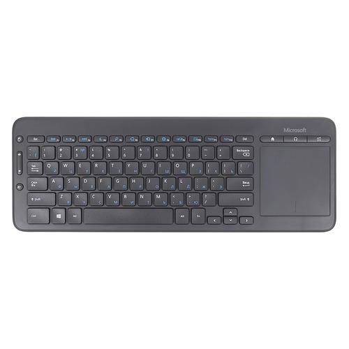 Клавиатура MICROSOFT All-in-One Media, USB, Радиоканал, черный [n9z-00018] цена