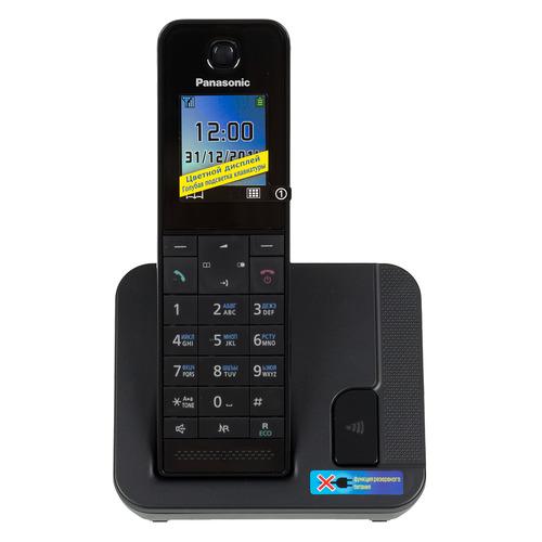 Радиотелефон PANASONIC KX-TGH210RUB, черный