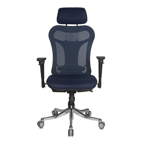Кресло руководителя БЮРОКРАТ CH-999ASX, на колесиках, ткань, темно-синий [ch-999asx/bl/tw-10n]
