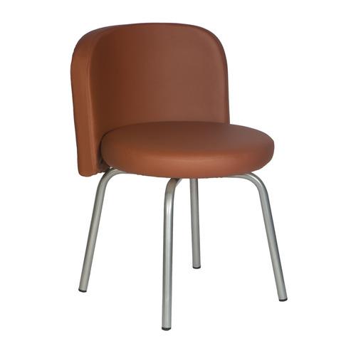 Стул БЮРОКРАТ KF-2, на ножках, искусственная кожа, коричневый [kf-2/or-07] стул офисный бюрократ kf 2 or 10