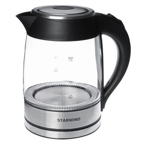 цена на Чайник электрический STARWIND SKG4710, 2200Вт, серебристый и черный