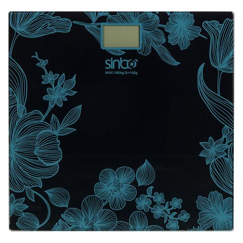 Напольные весы SINBO SBS 4429B, до 180кг, цвет: черный/рисунок sinbo весы напольные электронные sinbo sbs 4414 макс 150кг серебристый черный