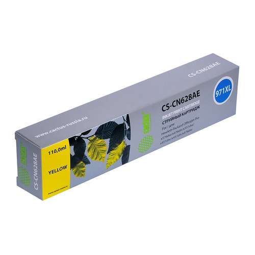 Картридж CACTUS CS-CN628AE, №971XL, желтый картридж струйный cactus cs cn628ae 971xl желтый для hp dj pro x476dw x576dw x451dw 113мл