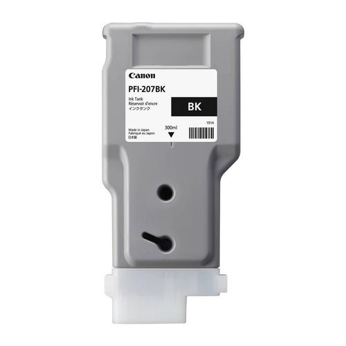 Картридж CANON PFI-207 BK, черный [8789b001] картридж canon pfi 206 bk для ipf6400 6450 черный