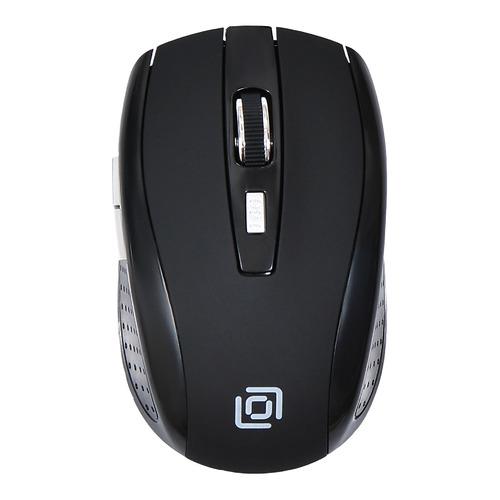 лучшая цена Мышь OKLICK 455MW, оптическая, беспроводная, USB, черный [tm-8100 black rubber]