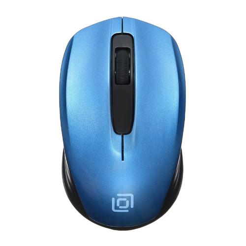 Мышь OKLICK 475MW, оптическая, беспроводная, USB, черный и синий [tm-1500 black/blue] мыши oklick мышь oklick 475mw черный серый оптическая 1200dpi беспроводная usb 3but
