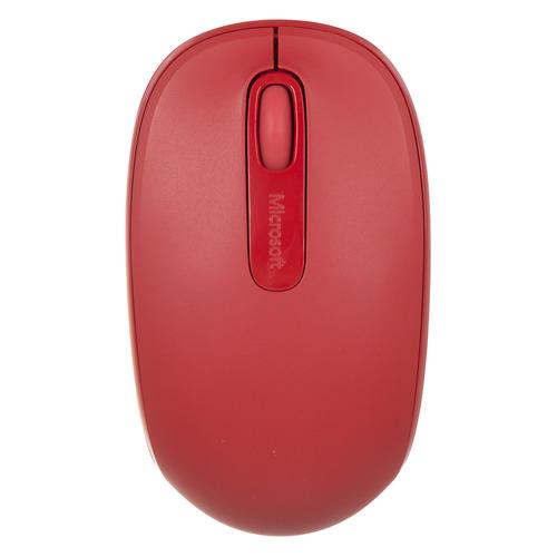 Мышь MICROSOFT Mobile Mouse 1850, оптическая, беспроводная, USB, красный [u7z-00034] цена и фото