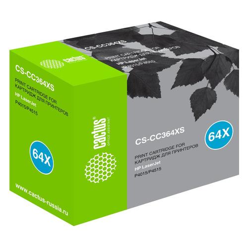 Картридж CACTUS CS-CC364XS, черный картридж hp cc364x для laserjet p4015 p4515 24000стр