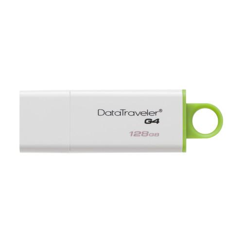 Флешка USB KINGSTON DataTraveler G4 128ГБ, USB3.0, белый и зеленый [dtig4/128gb] флешка usb kingston datatraveler g4 64гб usb3 0 белый и фиолетовый [dtig4 64gb]