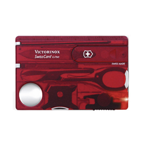 Швейцарская карта Victorinox SwissCard Lite (0.7300.TB1) красный полупрозрачный блистер швейцарская карта victorinox swisscard lite 0 7300 t 13 функций полупрозрачный красный