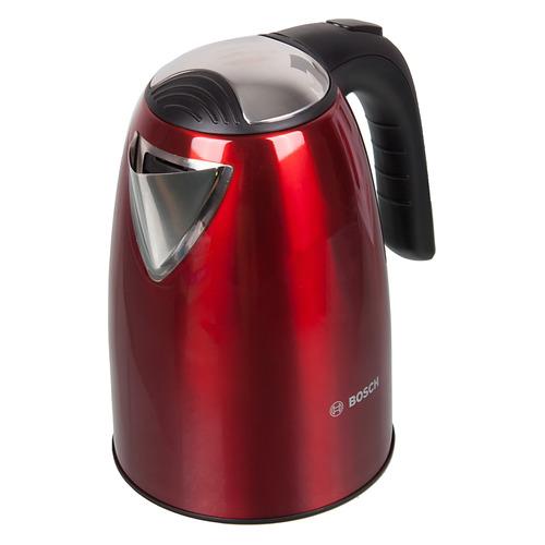 Чайник электрический BOSCH TWK7804, 2200Вт, красный чайники электрические bosch чайник bosch twk7801 1 7л 2200вт